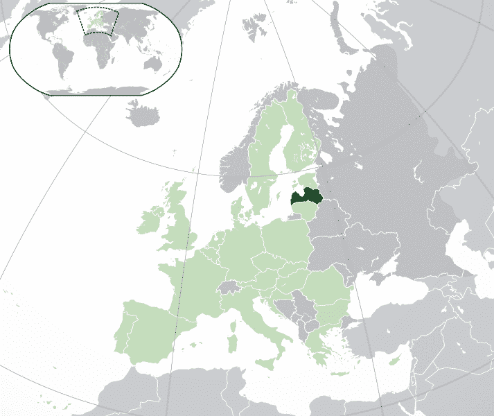 Lettonia cartina
