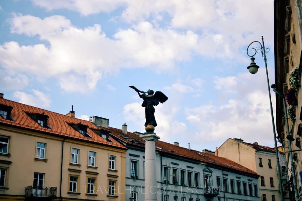 Angel in the main square of Uzupis, Vilnius