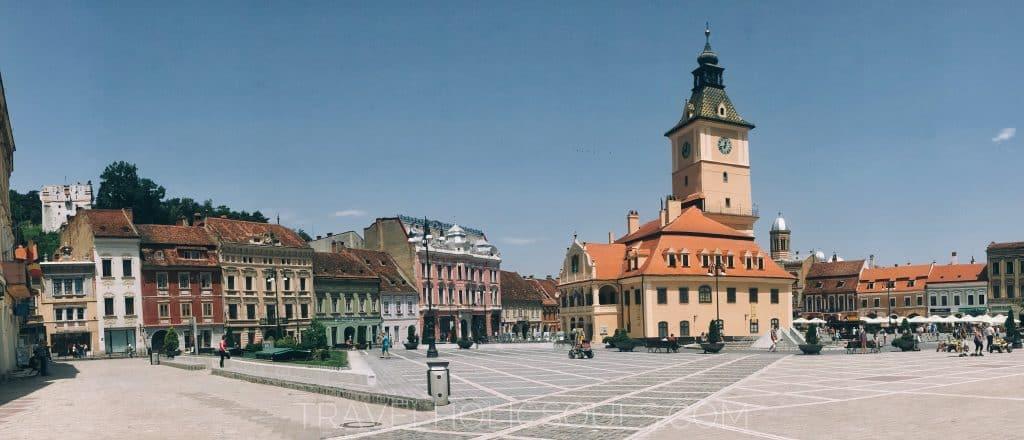 Panoramica piazza di Brasov