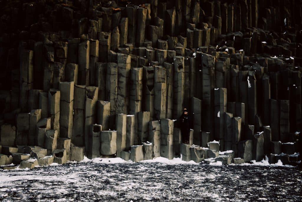 Basalt column in Reynisfjara