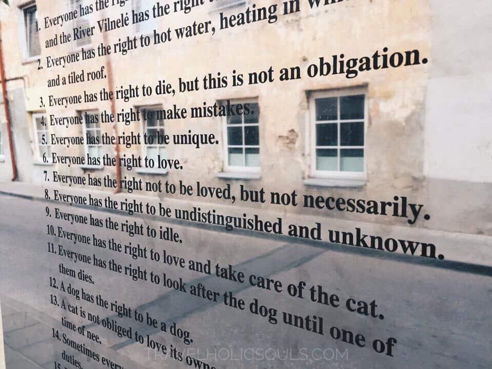 Costituzione di Uzupis a Vilnius