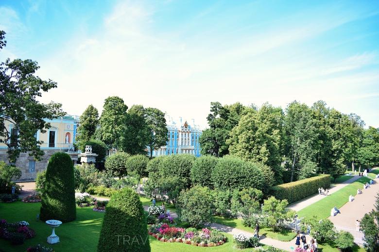 giardino del palazzo di Caterina a Pushkin