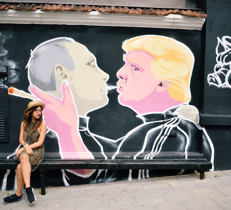 Murales Trump Putin