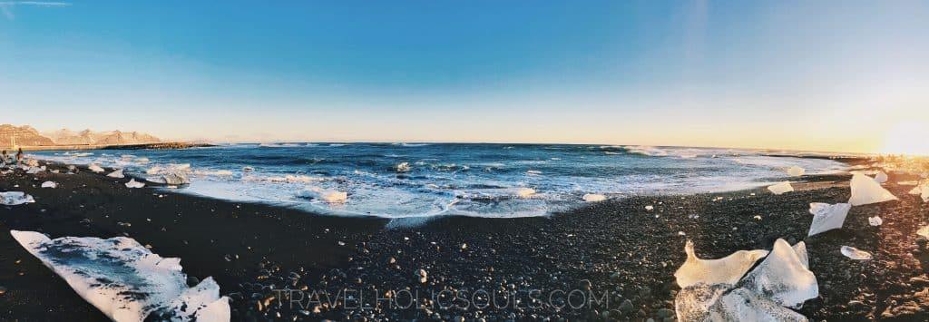 pano diamond beach iceland