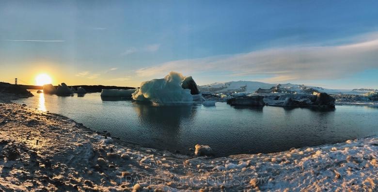 Panoramica glacier lagoon islanda