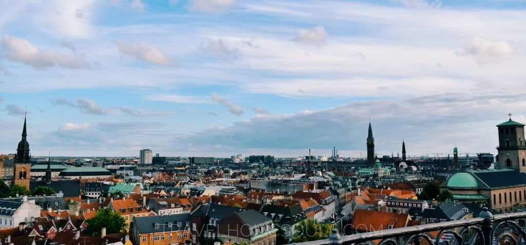 view Copenaghen from above