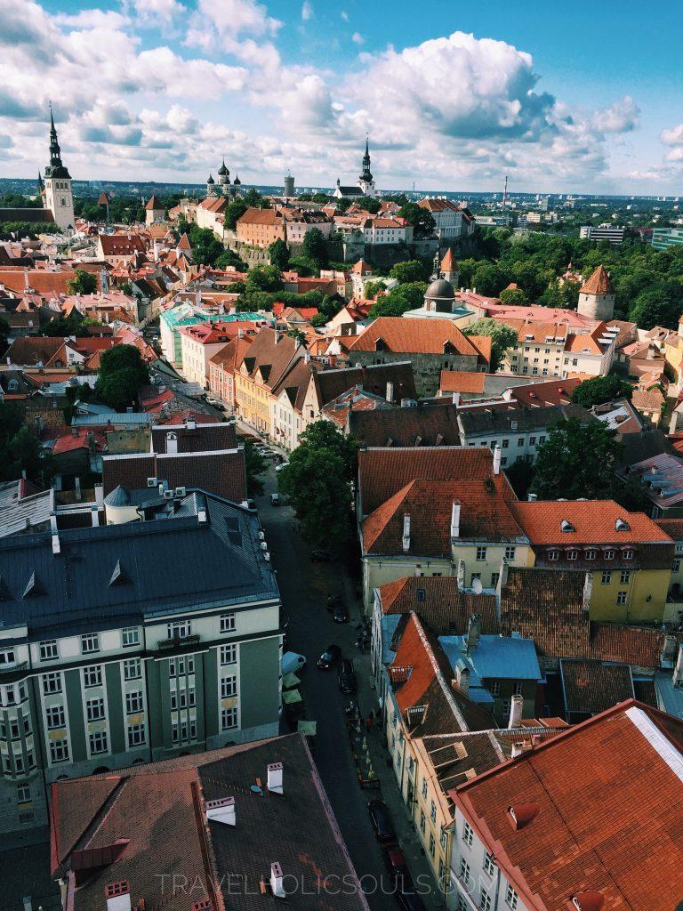 view of Tallinn from Saint Olaf church in Tallinn