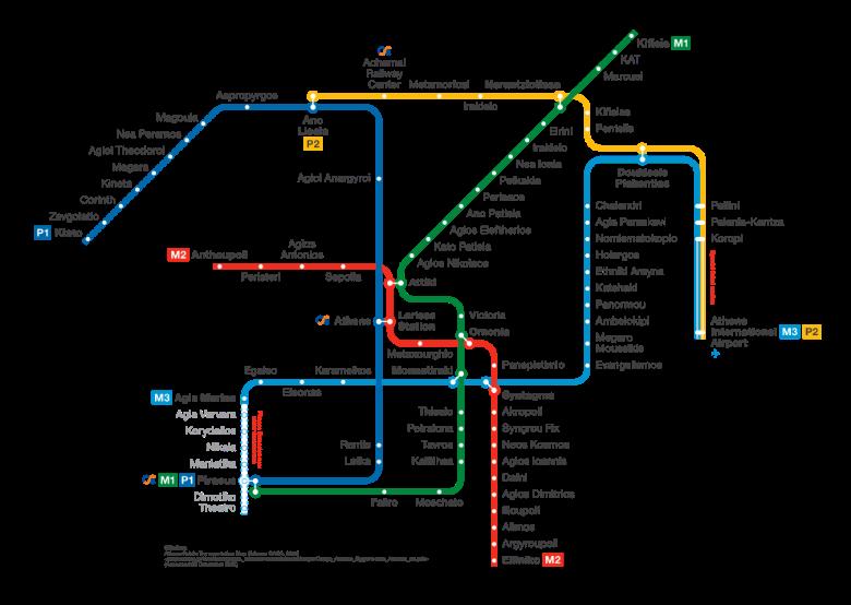 metro atene mappa