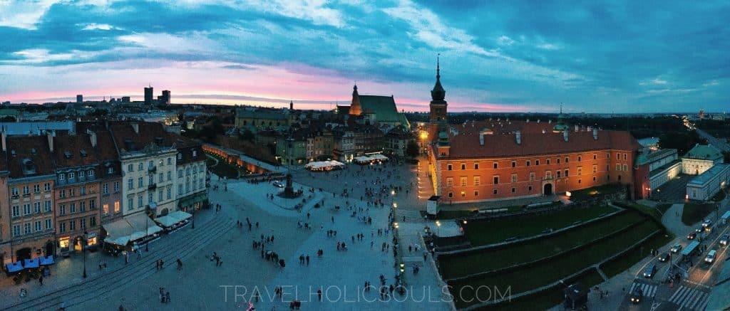 panoramica dal campanile chiesa sant'anna varsavia