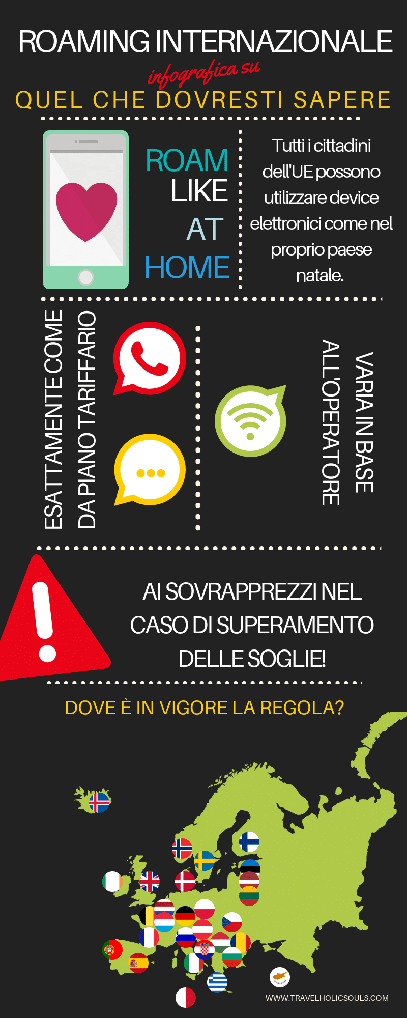 roaming internazionale infografica