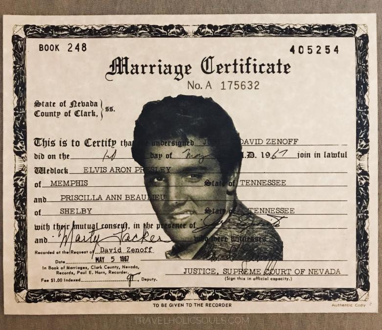 certificato matrimonio elvis