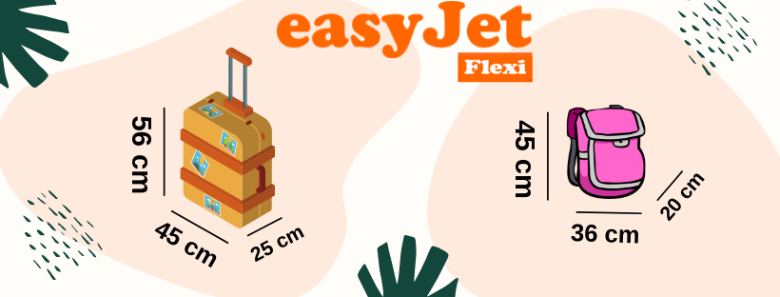 easyjet hand luggage policy dimensions