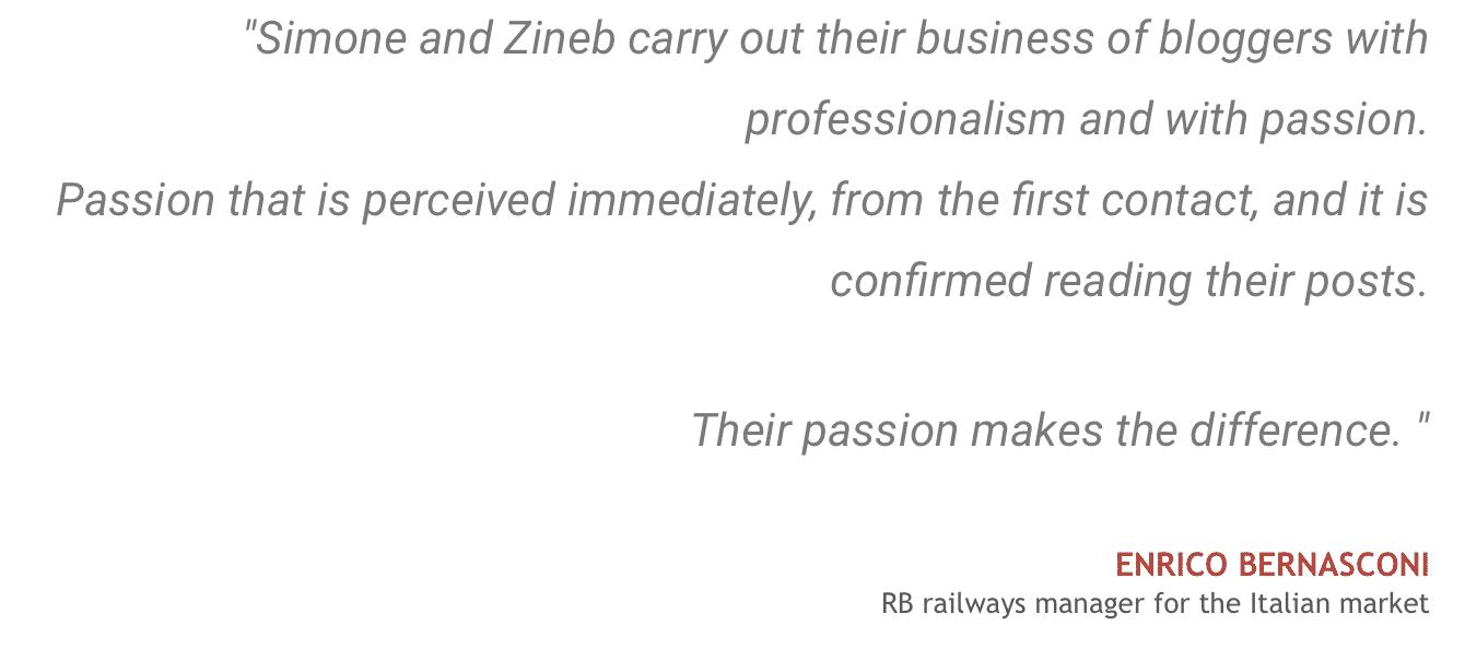 Testimonials Enrico- RB Railways manager