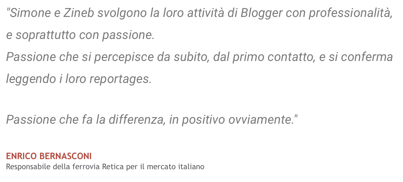 Testimonianza Enrico Bernasconi - Ferrovia Retica