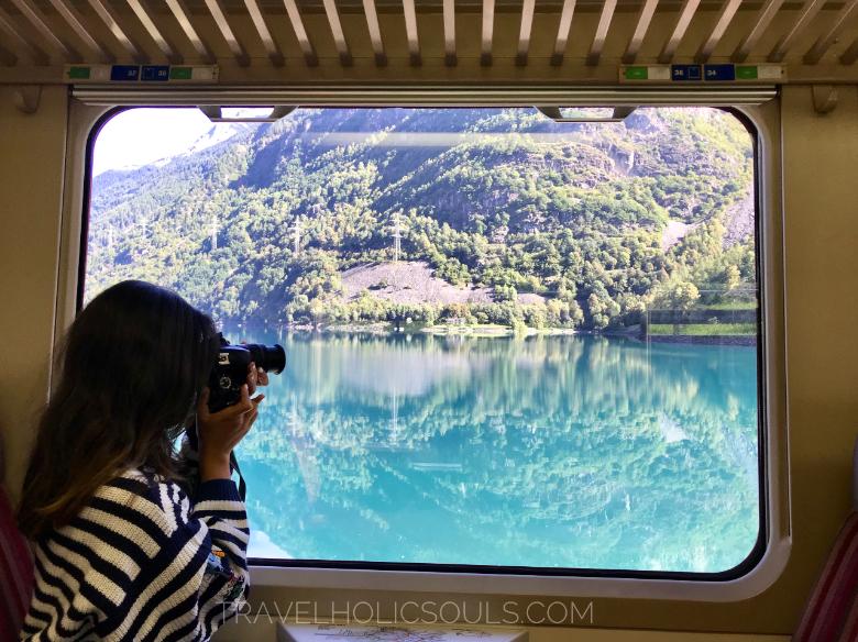 finestrino trenino rosso del Bernina