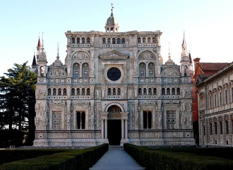 certosa di Pavia facciata