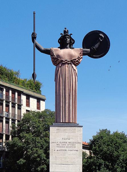 statua minerva pavia