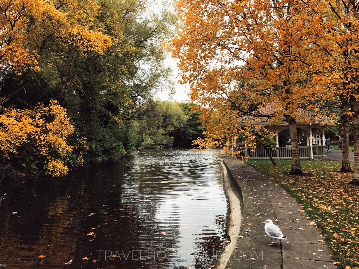 autunno dublino irlanda