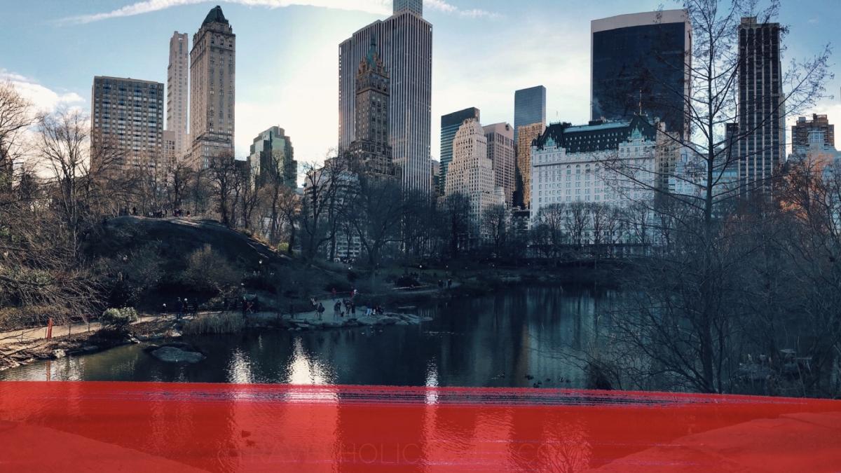 Central Park: vista sui grattacieli