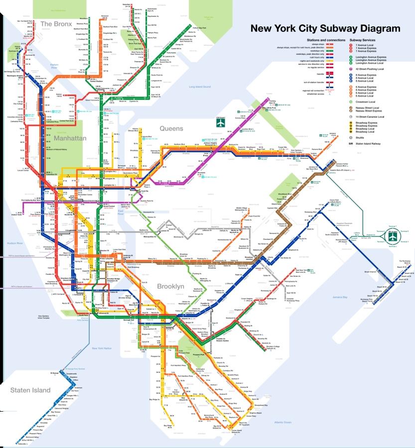 Mappa metropolitana New York