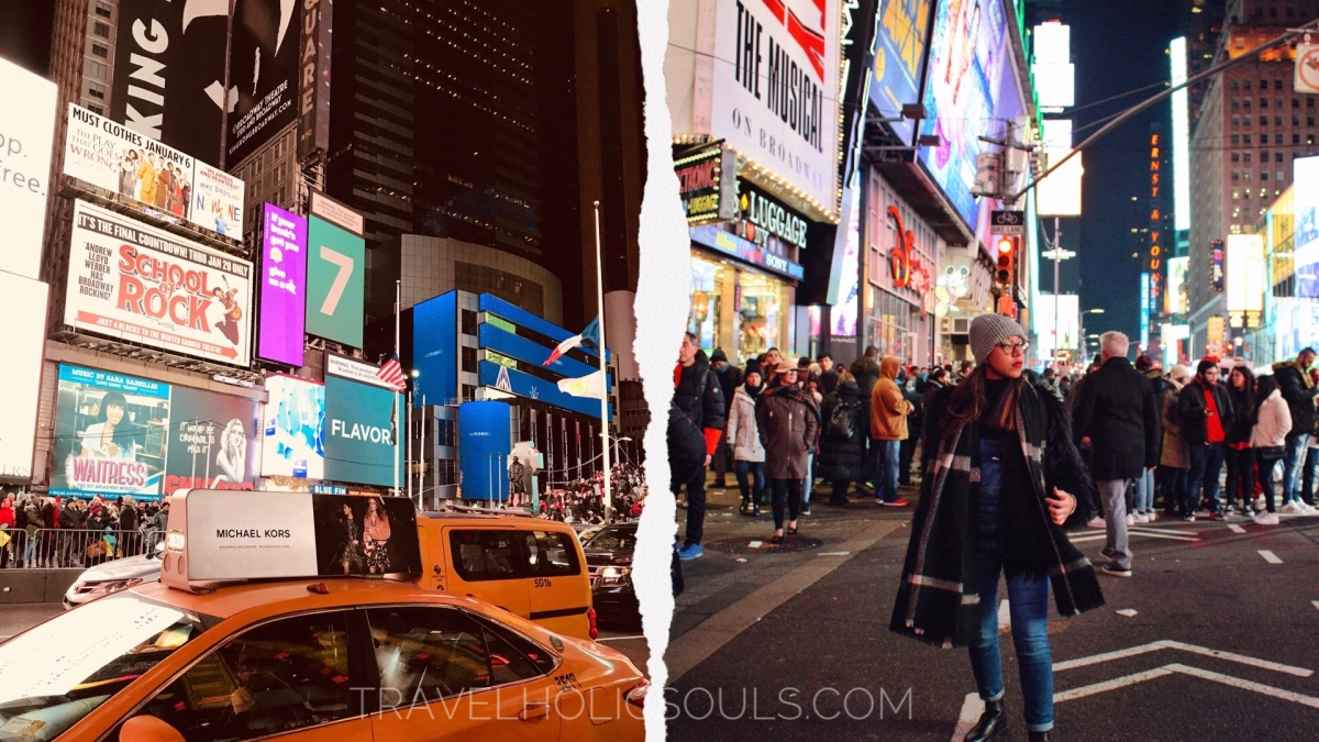 New York, Times Square di notte