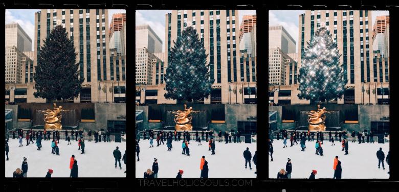 New York durante il periodo natalizio