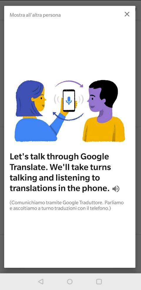 conversazione funzione spiegazione