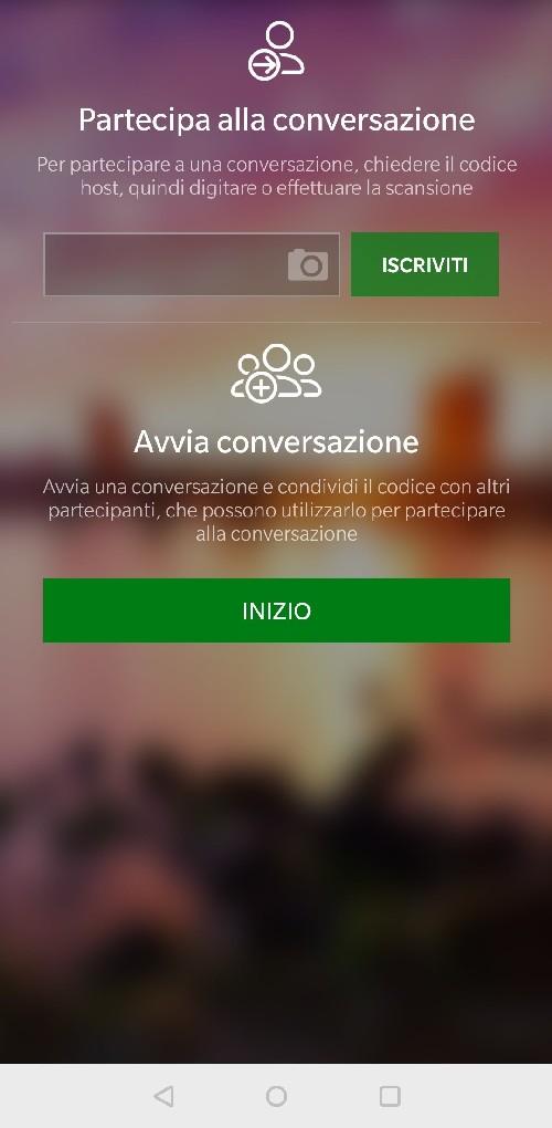 funzione conversazione microsoft traduttore 2