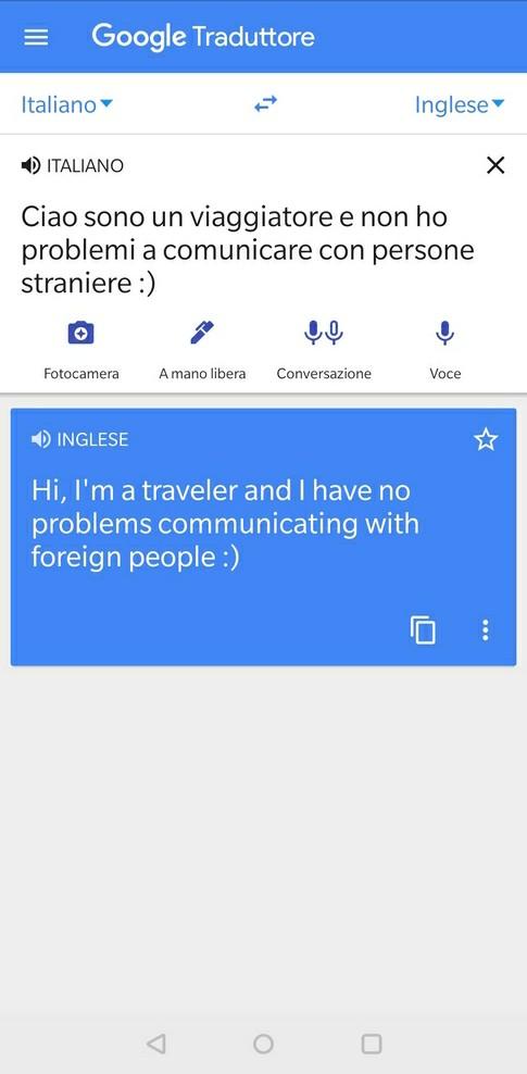 funzione digitazione google traduttore