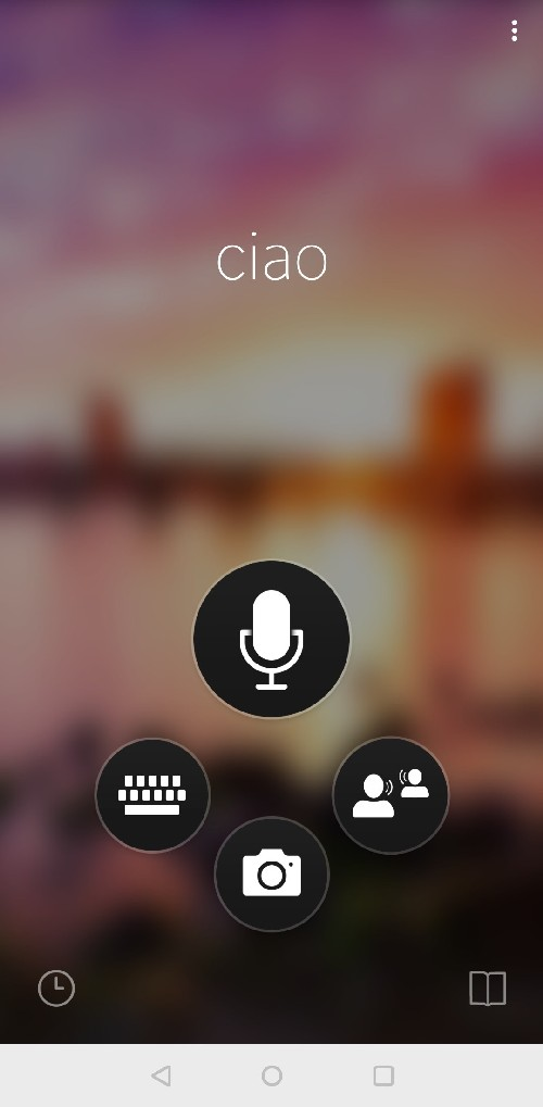 schermata iniziale microsoft translator