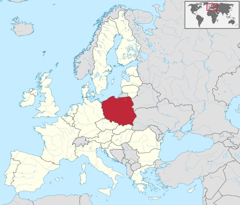 cartina polonia varsavia