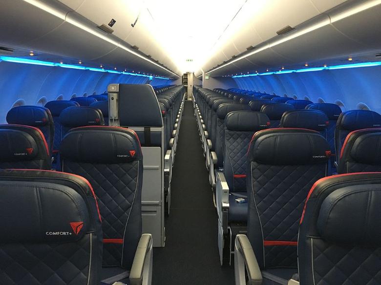 delta airlines cabina aereo