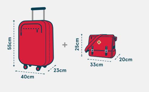 norwegian bagaglio a mano