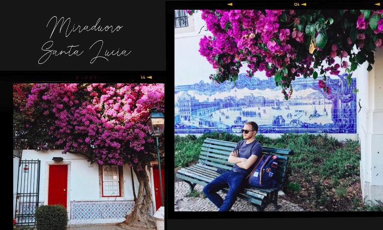 Visitare Lisbona: miraduoro Santa Lucia