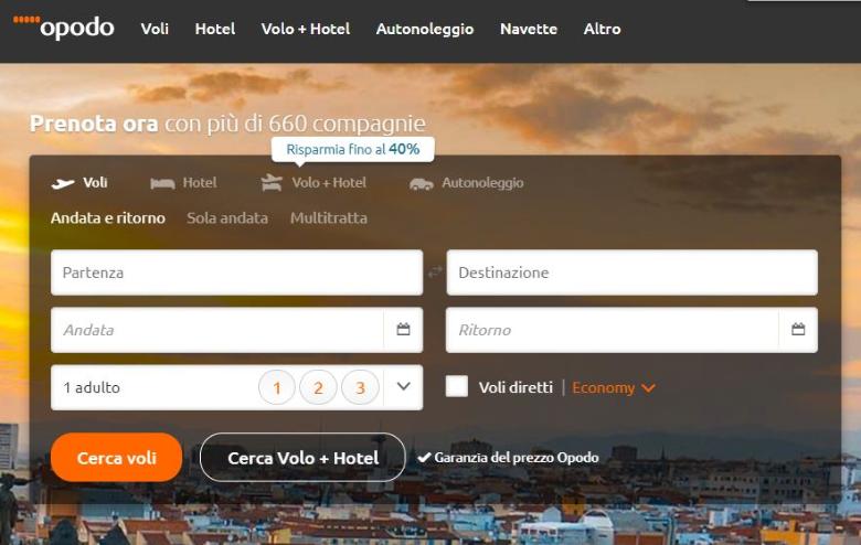 opodo homepage