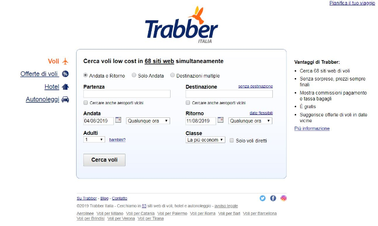 trabber homepage