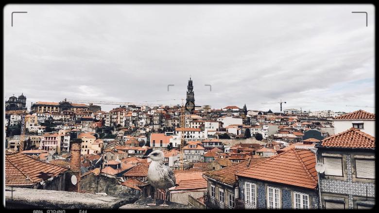 Vista dalla cattedrale di Porto