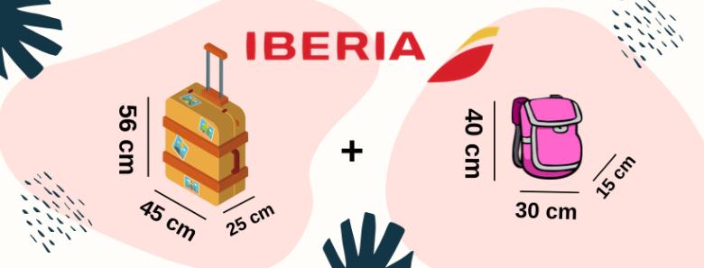 Iberia: informazione su bagaglio e misure