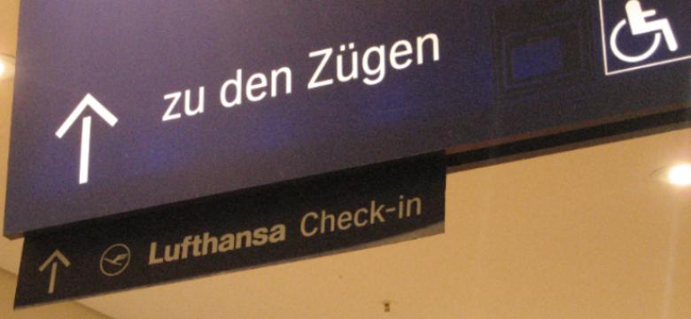 lufthansa check in indicazione