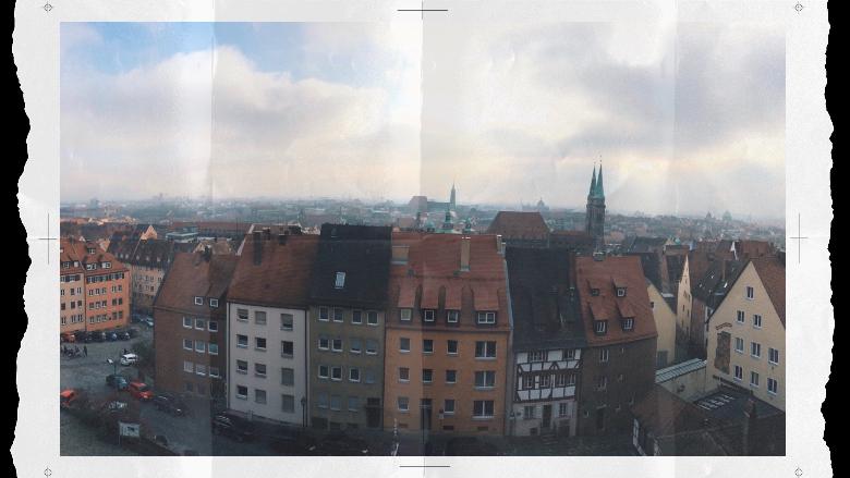 Vista di Norimberga dall'alto
