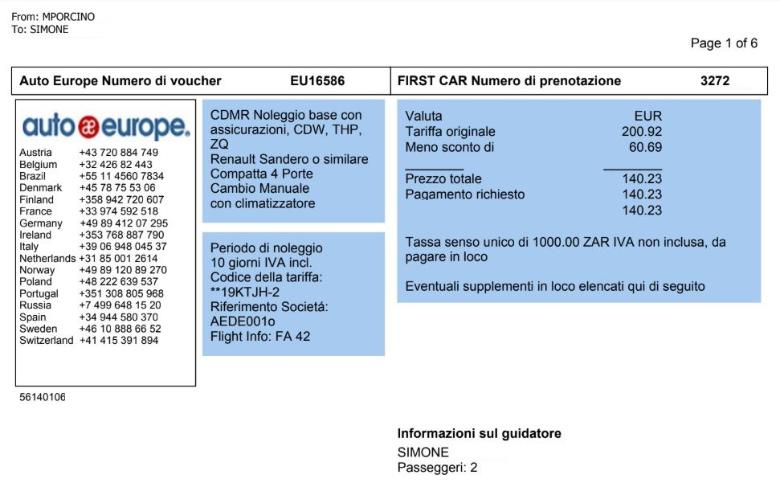 voucher auto europe