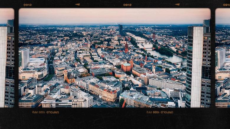 Francoforte vista dall'alto