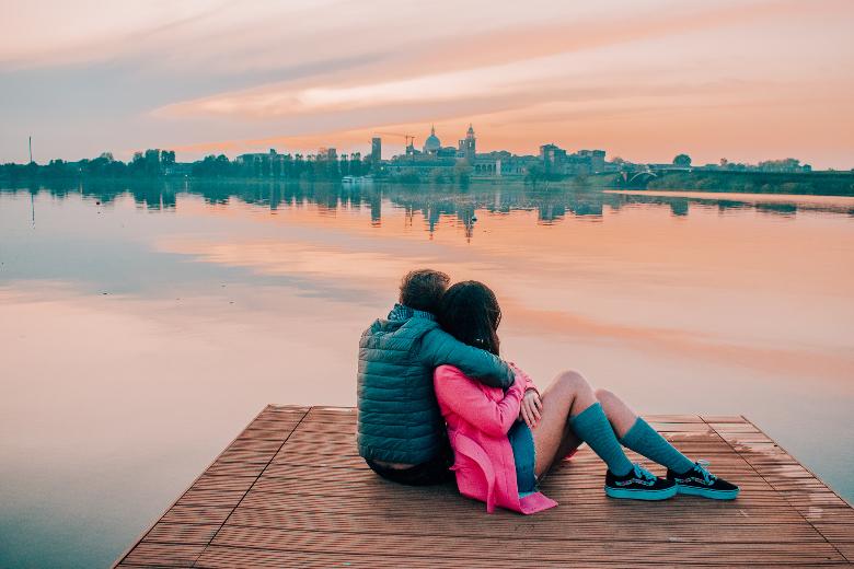 Mantova, tramonto romantico