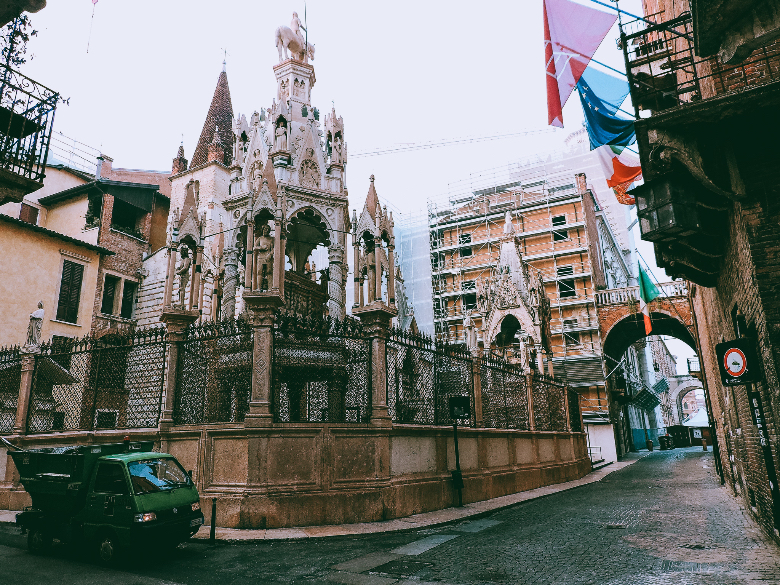 arche scaligere a Verona, in veneto