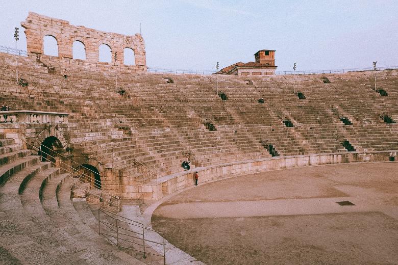 arena di Verona, vista da dentro