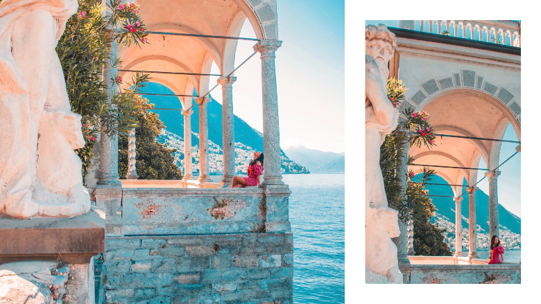 Dettaglio di Villa Monastero: giardino