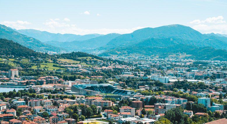 vedere Bergamo dall'alto