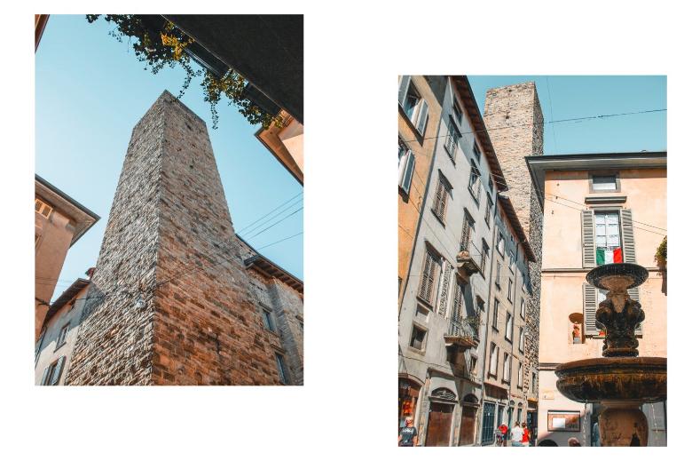 via gomito e torre a Bergamo