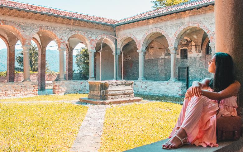 vista su Bergamo dal convento