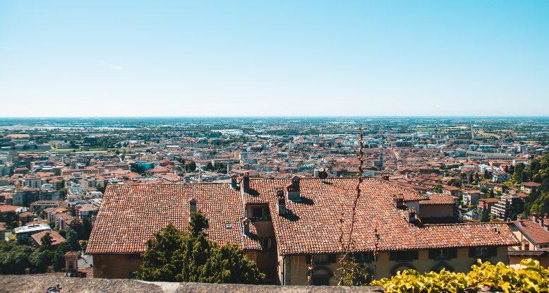 vista su Bergamo da Rocca